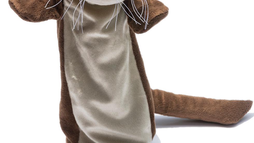 Lontra de pelúcia fantoche