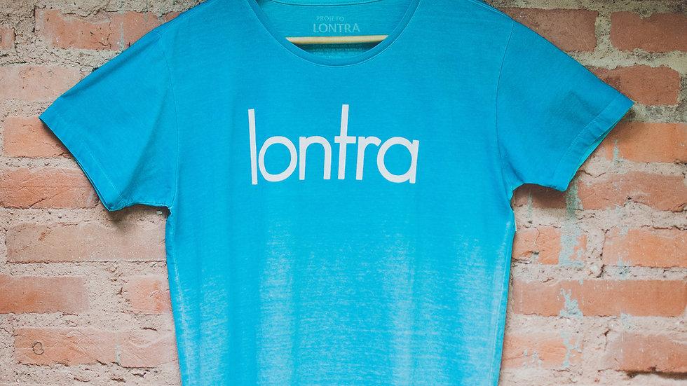 Camiseta Lontra azul degradê