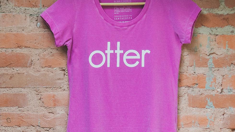 Camiseta feminina Otter rosa