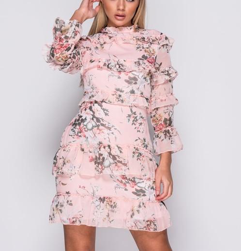 PARISIAN 3/4 Sleeve Floral Print Frill Hem Dress | Sydney\'s Fashion ...