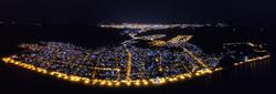 panorama laranjal noturna