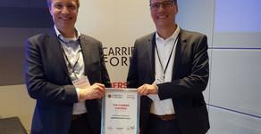 """Bredbåndsfylket vant prisen for """"beste regionale leverandør""""."""