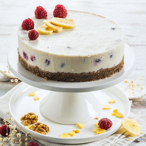 сурова веган торта малинова свежест