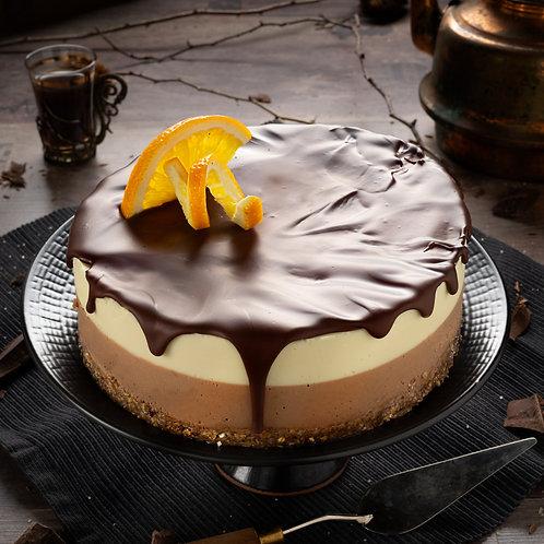 сурова веган торта шоколад портокал