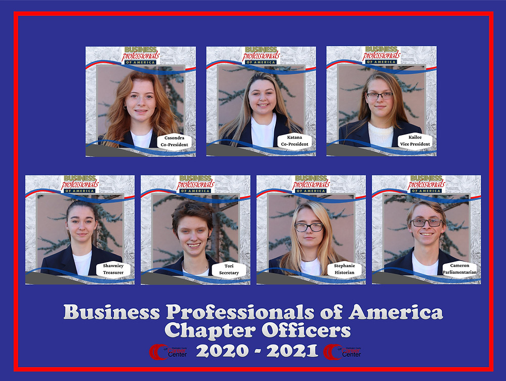 2020 Business Professionals of America (BPA) chapter officers