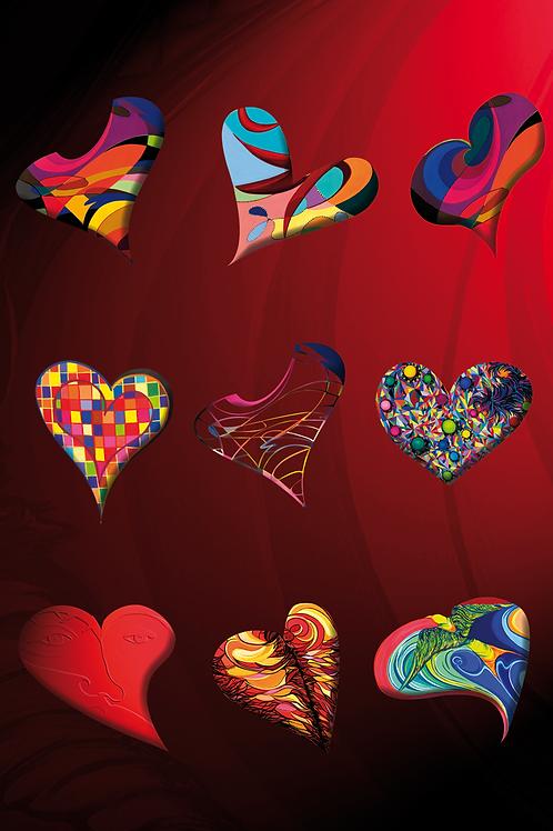 HEARTBEADS Design-Grußkarte