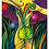 """Thumbnail: """"Blumencharakter""""  2003 Kunstkarte handsigniert"""