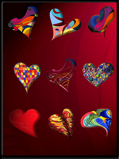 Herzansammlung - digtaler Fotodruck
