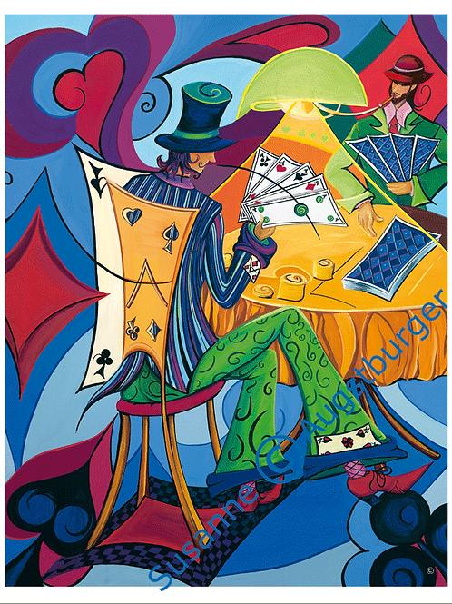 """Falschspiel""  2006 Kunstkarte handsigniert"