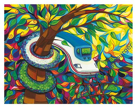 """""""Schleichweg"""" 2009 Kunstkarte handsigniert"""
