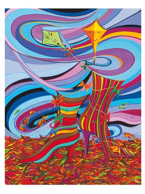 """Herbstkollektion"" 2008 Kunstkarte handsigniert"
