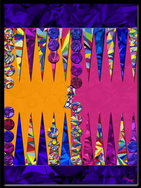 Kunstwerk Backgammon