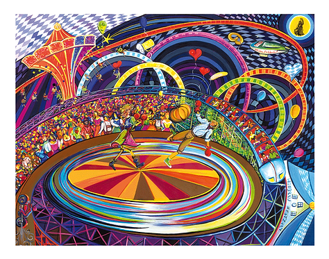 """""""Fröhlich dreht es sich im Kreise"""" 2010 Kunstkarte handsigniert"""