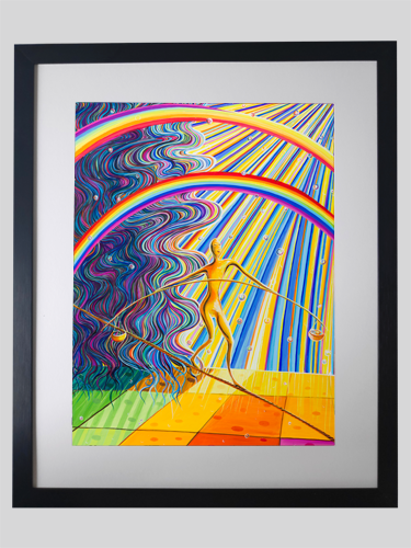 Fine Art Print gerahmt  Waage -MEDIATOR