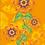 Thumbnail: ORANGE FLOWERS Design-Grußkarte