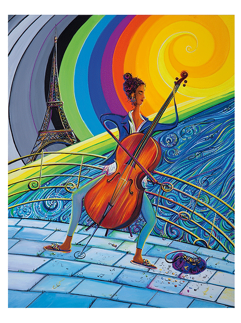 """Tour de Paris"" 2013 Kunstkarte handsigniert"
