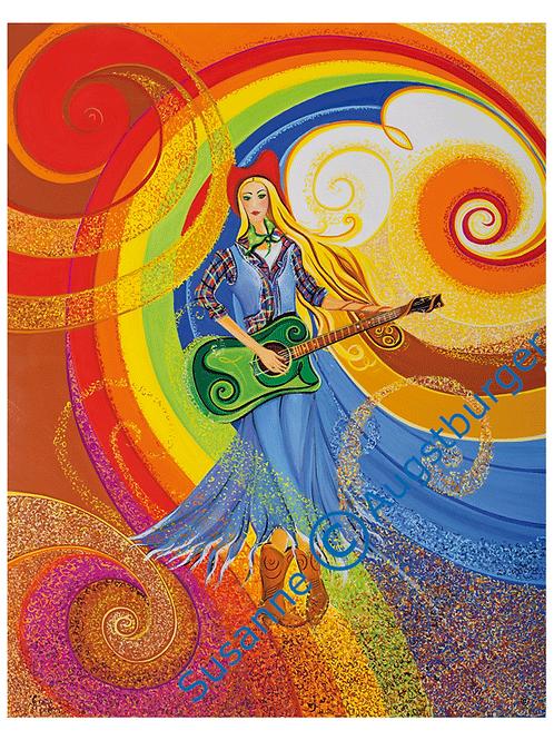 """""""Glimmer of hope""""  2015 Kunstkarte handsigniert"""