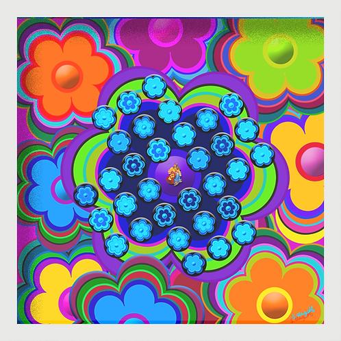 """""""Flower-Power"""" - Puzzle-Spiel Solitär"""