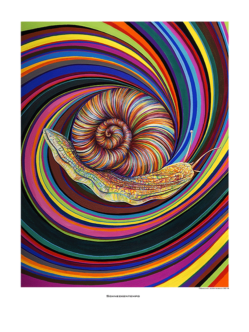 """Schneckentempo"" 2018 - Fine Art Print"