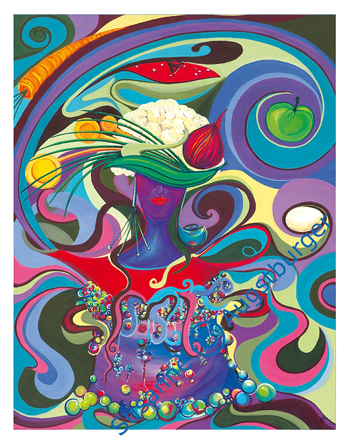 """Magic soup""  2007 Kunstkarte handsigniert"