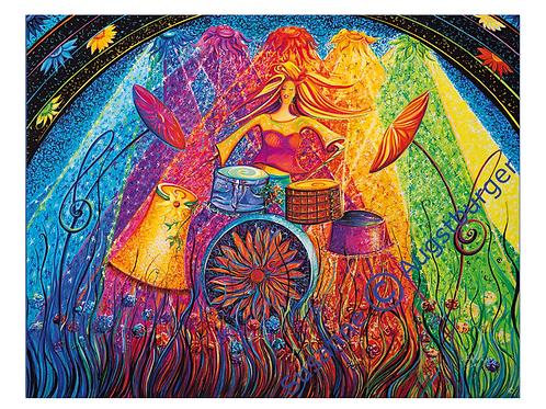 """Wild flower"" 2013 Kunstkarte handsigniert"