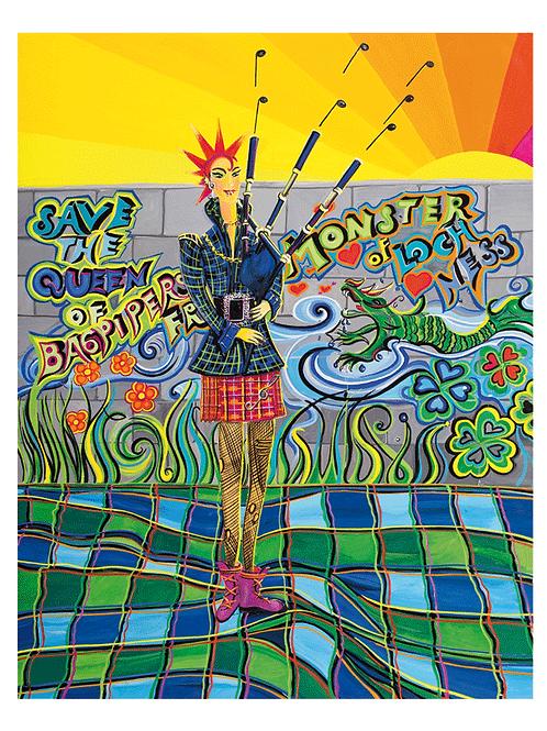 """Beautyful noise"" 2015 Kunstkarte handsigniert"