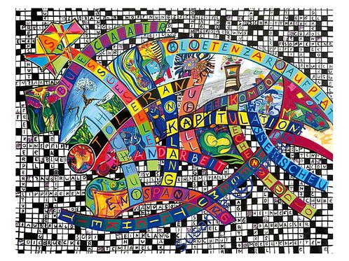"""Preisrätsel""  2005 Kunstkarte handsigniert"