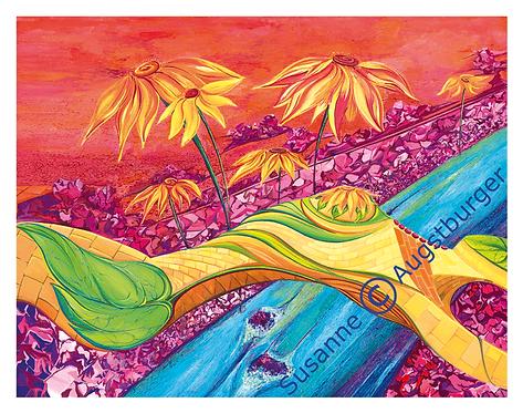 """""""Die Brücke"""" 2004  Kunstkarte handsigniert"""