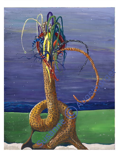Innenleben 1993 Kunstkarte handsigniert