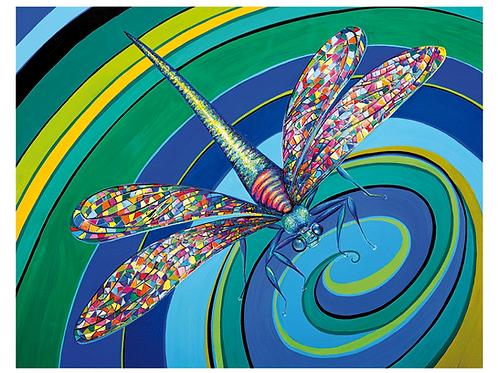 """Kunstflug"" 2016 Kunstkarte handsigniert"