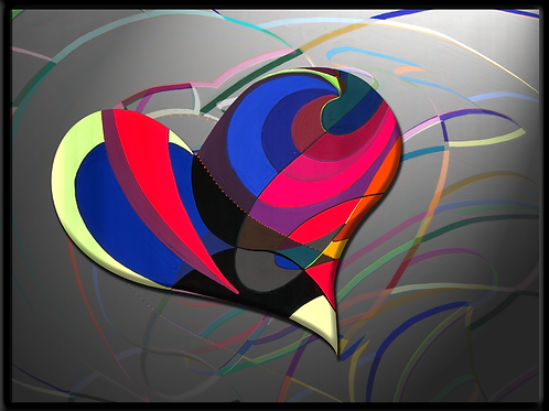 Herzattacke - digtaler Fotodruck