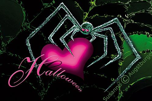 Halloween Design-Grußkarte signiert solange Vorrat reicht