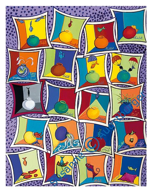 """Fallübung"" 2005 Kunstkarte handsigniert"