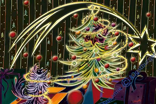 Schöne Bescherung 2018 Art-Design  Weihnachts-Grußkarte