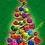 Thumbnail: Sweet Christmastree Design-Weihnachtsgrußkarte