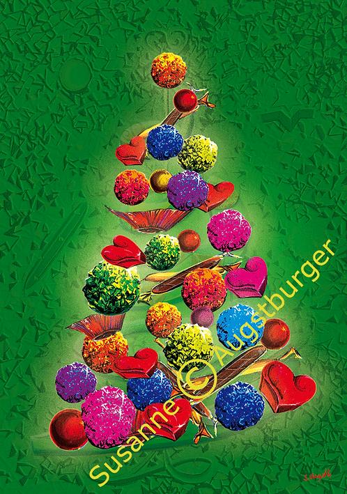Sweet Christmastree Design-Weihnachtsgrußkarte