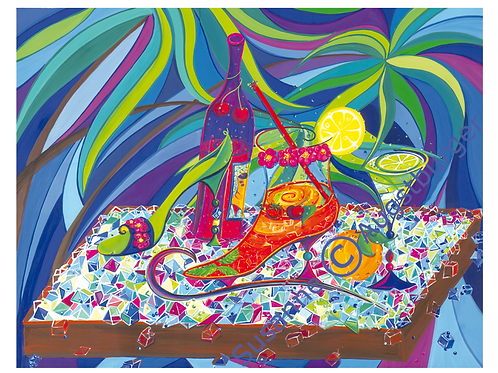 """Shoes on the rocks"" 2009 Kunstkarte handsigniert"