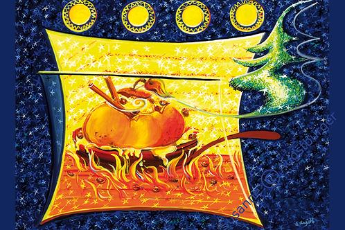Bratapfel 2012 Weihnachts-Grußkarte