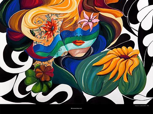 """""""Sommerwind"""" 1996 Fine Art Print"""