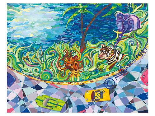 """Imagination""  2004 Kunstkarte handsigniert"