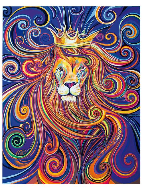 """Sternzeichen Löwe - """"Seine Majestät""""  2020 Kunstkarte handsigniert"""