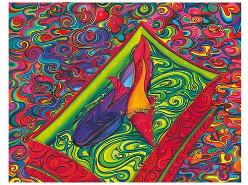 """""""Love Story"""" 2009 Kunstkarte handsigniert"""