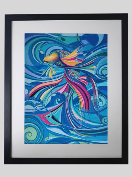 Fine Art Print gerahmt Fische - TRAUMTÄNZER