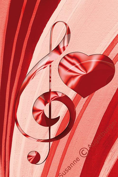 MELODY OF LOVE Design-Grußkarte