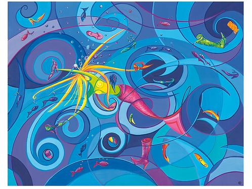 """Leidenschaft"" 2009 Kunstkarte handsigniert"