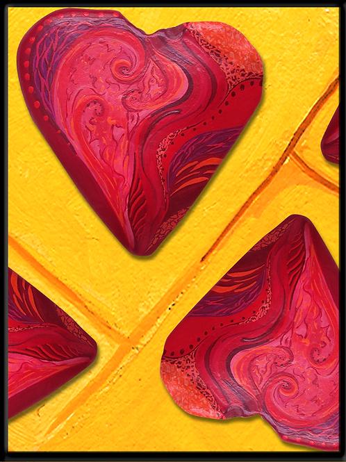 Herzpflaster - digtaler Fotodruck