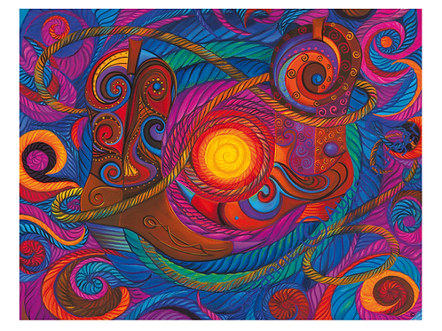 """Westernstyle""  2005 Kunstkarte handsigniert"