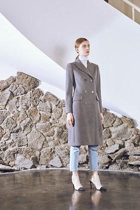DB Wool Blend Topcoat - Gray