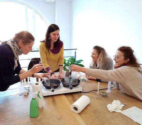 Atelier de fabrication de cosmétiques maison
