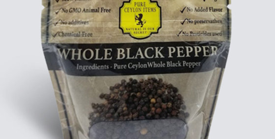 Organic Whole Black Pepper - 100g